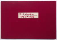 """Douze lithographies de J. Jégoudez sur un poème de R. G. Cadou [""""Un poème, douze lithographies"""" sur l'emboîtage]"""