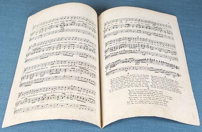 New York: J.A. & W. Geib , 1818. Quarto. Engraved sheet music, on 3pp. of two leaves (final page bla...