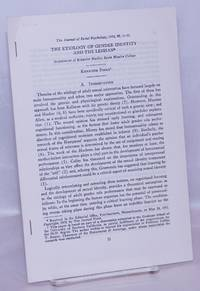 image of The Etiology of Gender Identity and the Lesbian [offprint sheets] reprinted from The Journal of Social Psychology
