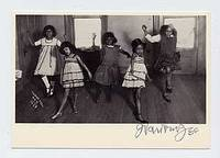 Signed Postcard of one of his Photographs of Dancing Children