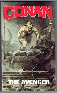 image of CONAN THE AVENGER #10 (Frank Frazetta Cover, front and back)