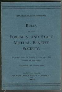 image of Rules of the Foremen and Staff