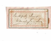 image of SLIP OF PAPER SIGNED BY ENGLISH NONCONFORMIST MINISTER WILLIAM MORLEY PUNSHON.