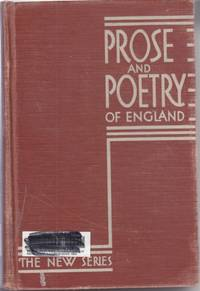 image of Prose and Poetry of England Including a History of English Literature