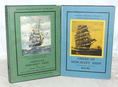 Salem, Mass.: Marine Research Society, 1930 & 1931. First Editions. Both volumes of this two volume ...