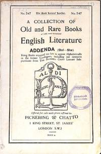 Catalogue 247/n.d. : english literature Addenda ( oxf-Sne)
