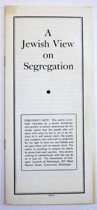 A JEWISH VIEW ON SEGREGATION