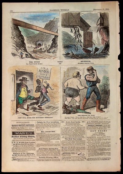 Harper's Weekly, 1861. Paperback. Paperback. Includes 4 hand colored ads about the Union and Sucessi...