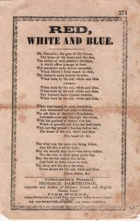 19th century American Song Sheet published by Horace Partridge, Boston  -  Red White and Blue ' Columbia' ca 1860