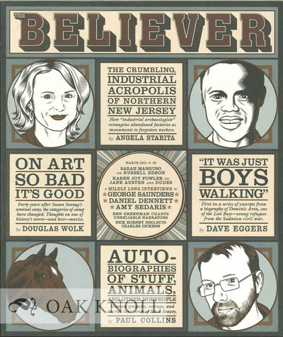 (San Francisco, CA): The Believer, 2004. stiff paper wrappers. small 4to. stiff paper wrappers. 87+(...