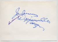image of Signatures of Johnny Weissmuller and Maria Weissmuller