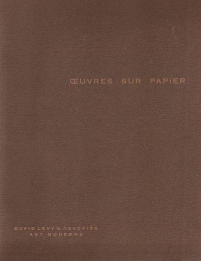 Paris: David Levy & Associés Art Moderne, 2010. First Edition. Soft cover. Very Good. Quarto. Brown...