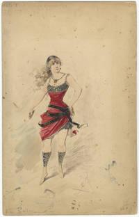 "Original ballet costume design entitled ""Danza Guerresca 1mo. Ballerina Atto 1"" by..."