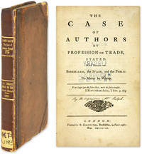 The Case of Authors by Profession or Trade, Stated [Bound with].. by  Isaac  James; D'Israeli  - First edition  - 1758  - from The Lawbook Exchange Ltd (SKU: 64116)