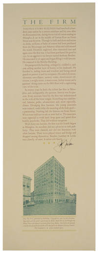 image of The Firm (Signed Broadside)