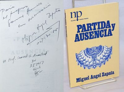 Madrid: Editorial Playor, 1984. Paperback. 62p., inscribed to Prof. Samuel G. Armistead signed and d...