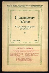 Philadelphia: Charles Wharton Stork, 1918. Softcover. Very Good. Vol. VI, no. 5. Edited by Charles W...