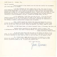 Typed Letter, signed (Jack Kerouac), to Irving Rosenthal of the Chicago Review