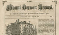 The Publication That Helped Save Mount Vernon: A Near Complete, 2-Year Run of the Mount Vernon Record Published by the Mount Vernon Ladies' Association, it contained articles and original engravings relating to Washington and the effort to save his home