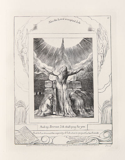 London: William Blake, 1826. Folio. (17 x 13 inches). Engraved pictorial title and 21 engraved plate...