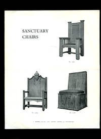 image of Church Furniture   Original Plans, Sketches, Proposed Designs and Catalogue for Sanctuary Chairs   Letters   Price Lists   Examples of Work Executed By J. Wippell & Company Ltd., [11 Pieces in Total]