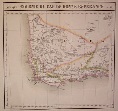 Brussels: Vandermaelen, Phillipe Marie, 1827. unbound. very good. Map. Large format lithograph of So...