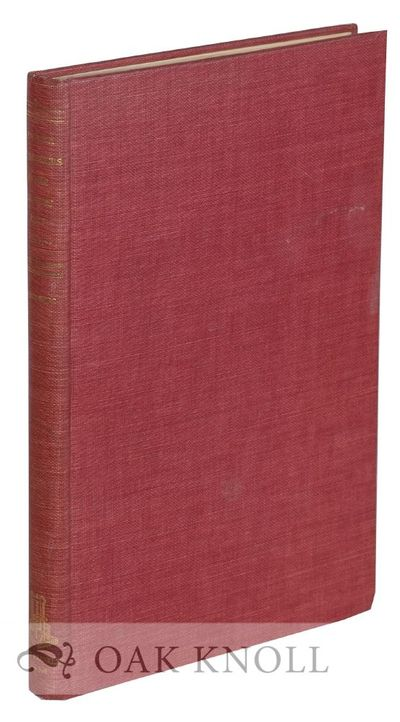 New York: Burt Franklin, 1963. cloth. 4to. cloth. xii, 128 pages. First edition. With 40 plates. Wit...