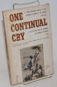 image of One continual cry;
