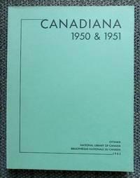image of CANADIANA 1950 & 1951.
