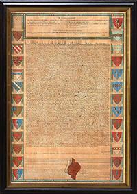 Magna Carta. by  John (engr.) MAGNA CARTA; PINE  - 1733 but later.  - from Peter Harrington (SKU: 129073)