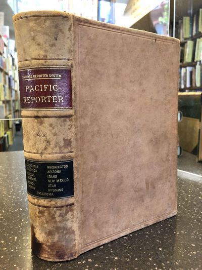 St. Paul, MN: West Publishing Co, 1896. Permanent Edition. Hardcover. Octavo, 1187 pages; VG-; conte...