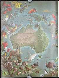 "Untitled pictorial map of Australia in Summer 1966 issue of ""The Lamp."""