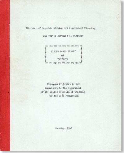 : Ministry of Economic Affairs and Development Planning, 1966. First Edition. Quarto (25cm.); origin...