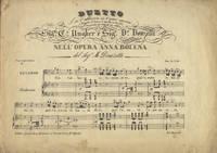 [Anna Bolena]. Duetto S'ei t'abbore io t'amo ancora eseguito al Teatro di Apollo in Roma nel Carnevale del 1839-40 dai celebri Sigra. Ca. Ungher e Sigr. Do. Donzelli nell' opera Anna Bolena... Prez. Fr. 2.30... Lit. Martelli. [Piano-vocal score]