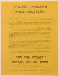 image of Protest Reagan's reinauguration! [handbill in English and Arabic]