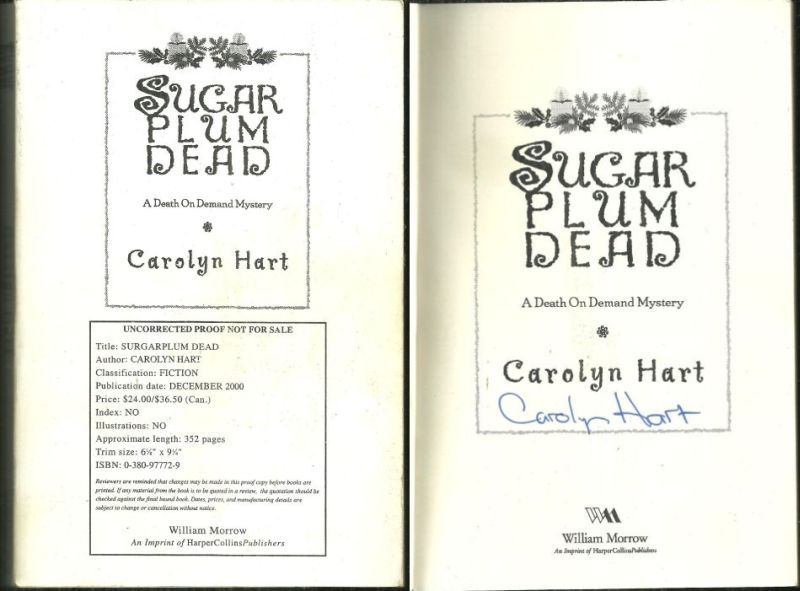 SUGARPLUM DEAD, Hart, Carolyn