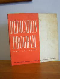 DEDICATION PROGRAM, Arkansas Arts Center May 18, 1963