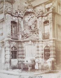 Rouen--Fontaine de la Grosse Horloge [and] Fontaine Sainte-Marie [2 albumen prints]