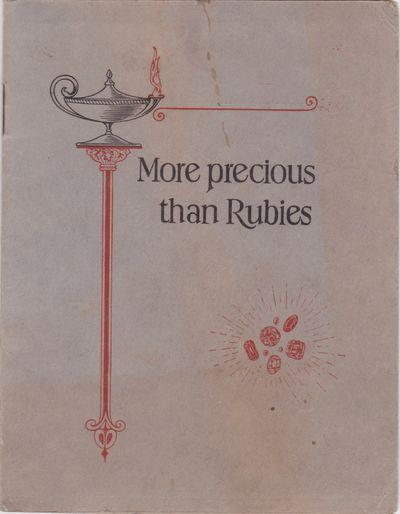 More precious than Rubies [Cover title]