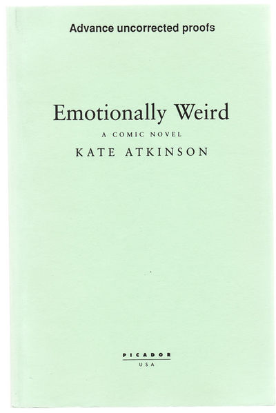 New York: Picador, 2000. First edition. Uncorrected proof of her third book. Atkinson won the Whitbr...