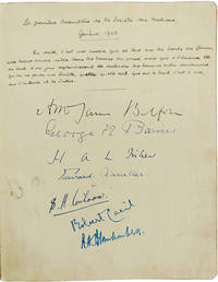 Album of Autographs from First Geneva Meeting Attendees, Containing 34 Original Signatures of the Founding League of Nations Members Icuding China's Wellington Koo.