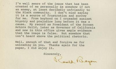 18/10/1984. Ronald Reagan