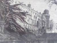 1875 Engraving, Warwick Castle, from the West [Warwickshire, England]