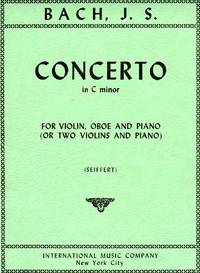 Concerto in C minor for Violin, Oboe, and Piano [PIANO FULL SCORE & SET of PARTS]