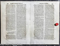 15 BIBLE LEAVES AND RELATED 1500'S TO 1800'S. [Lbc]
