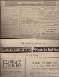 Sample Trio of 20th Century Music Periodicals 1915: THE ETUDE [and] THE MUSICIAN [and] THE MUSICAL OBSERVER.