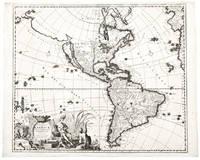 Recentissima Novi Orbis, Sive Americae Septentrionalis et Meridionalis Tabula