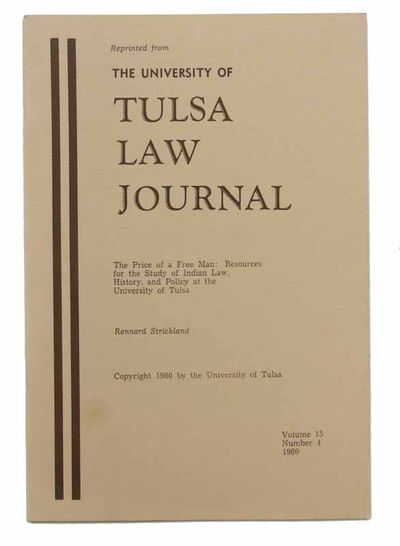 Tulsa: University of Tulsa, 1980. Reprinted. Stapled tan wrappers with printed brown lettering. Mino...