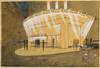 """Cinq études d'architecture pour les """"bars automatiques Presto"""" à Paris (14 bd des Italiens et Place de la Bourse), 1930"""