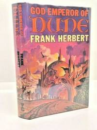 SIGNED FIRST EDITION OF GOD EMPEROR OF DUNE  REVIEW COPY FINE in dj. BRITISH